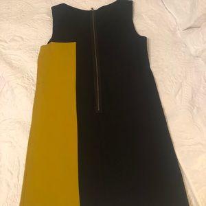 Ali Ro Dresses - Yellow and Black Two Tone Shift dress